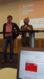Die Vorsitzenden von SKM und SkF Ludger Urbic und Dr. Anke Klaus; Foto: © B. Schneiderwind/SKM