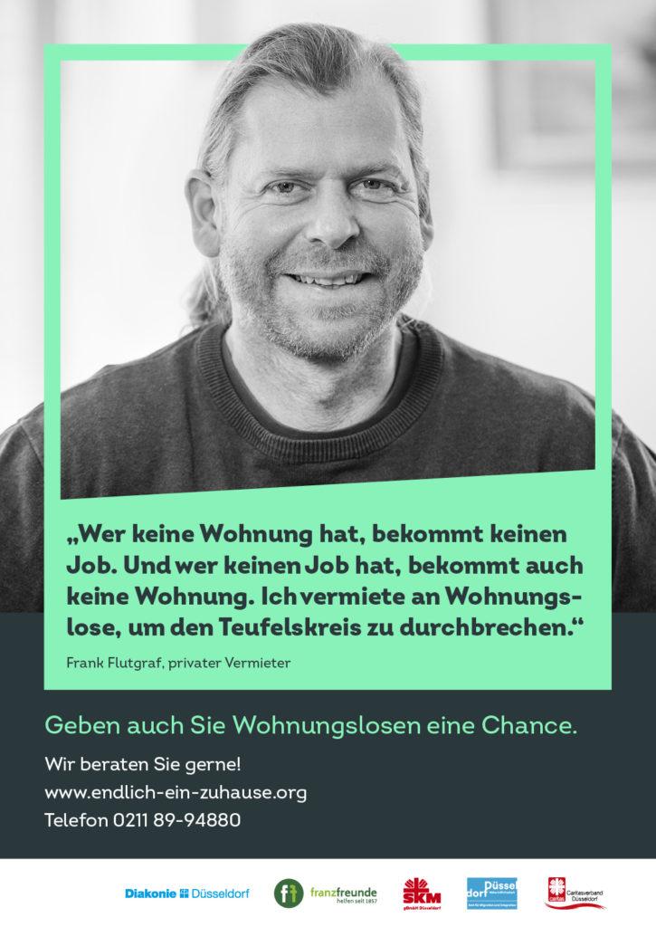 Düsseldorfer Wohnungslosenkampagne Endlich ein Zuhause Frank Flutgraf