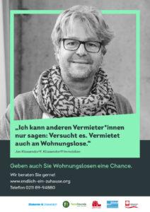 Düsseldorfer Wohnungslosenkampagne Endlich ein Zuhause Jan Klüssendorff