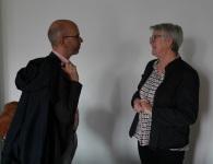 Roland Rosenow im Gespräch mit Brunhilde Ludwig (SkF)